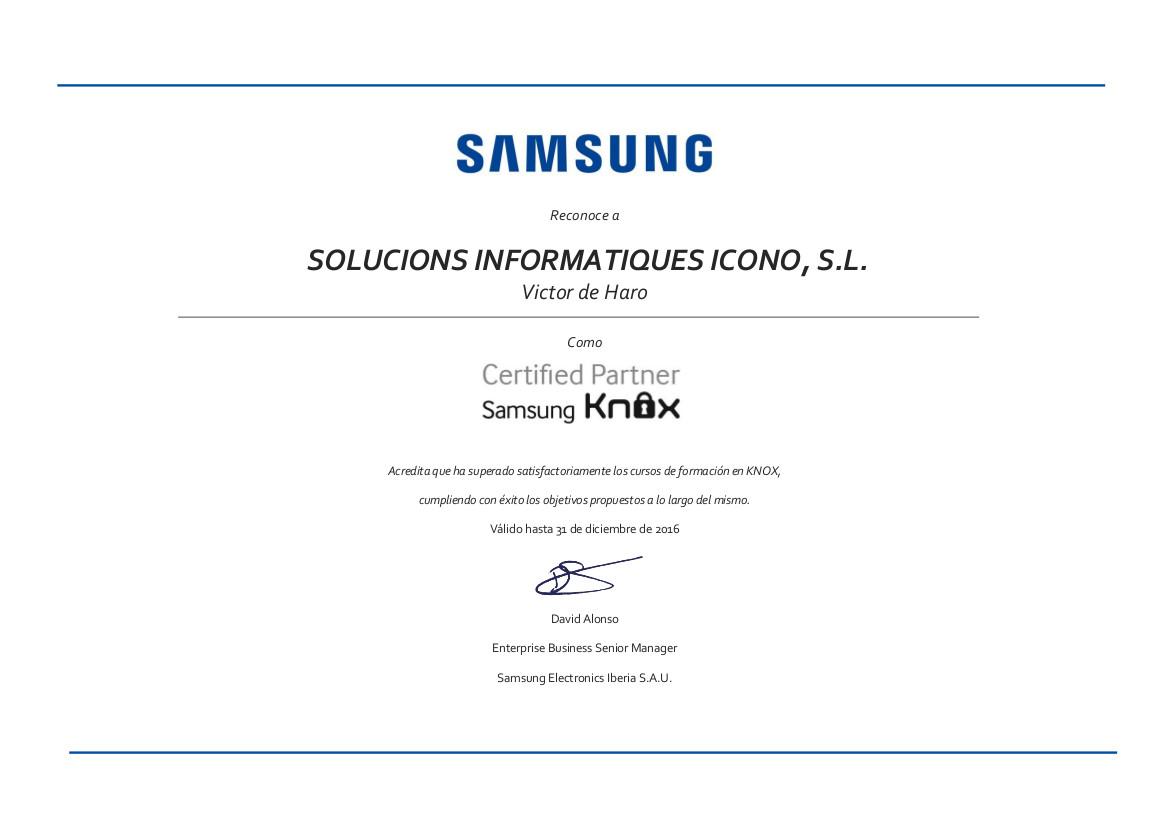 Certificados Knox Junio 16 ICONO