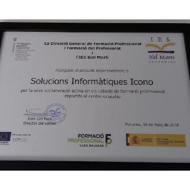 Certificat de col·laboració IES Biel Marti